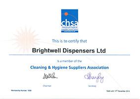 CHSA certificate image